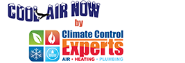 Get cool air now by Climate Control logo